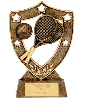 "Tennis Shield with Tennis Rackets 15cm (6"")"