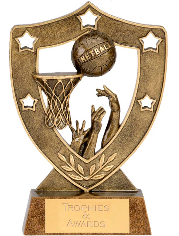 "Netball & Basket Shield 15cm (6"")"
