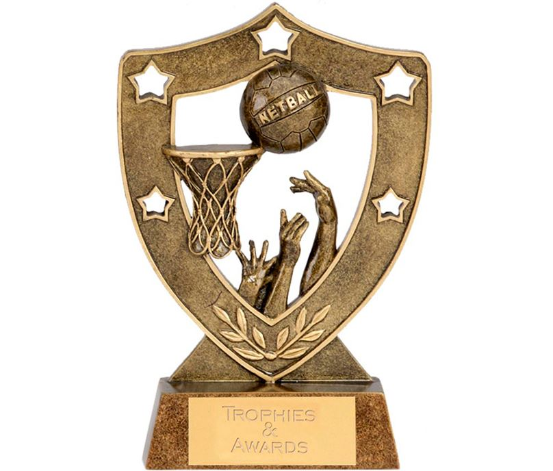 "Netball & Basket Shield 12.5cm (5"")"