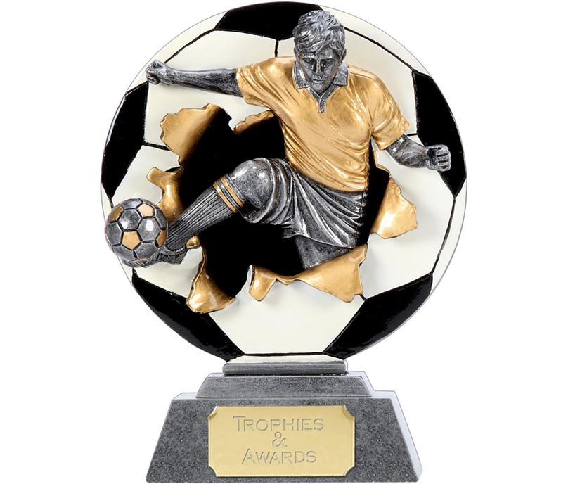 "X-Plode 2D Football Trophy 10cm (4"")"