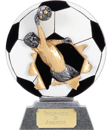 "X-Plode 2D Goalkeeper Football Trophy 15cm (6"")"