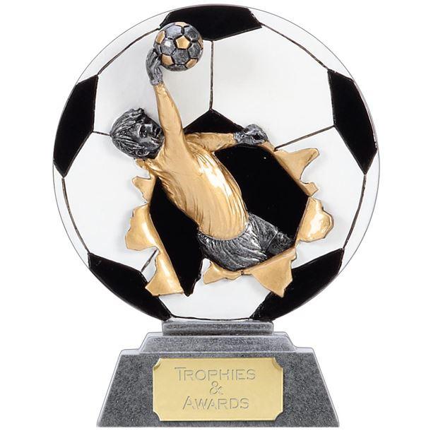 """X-Plode 2D Goalkeeper Football Trophy 15cm (6"""")"""