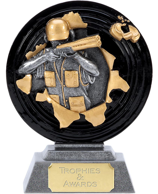 """X-Plode Clay Pigeon Shooting Trophy 15cm (6"""")"""