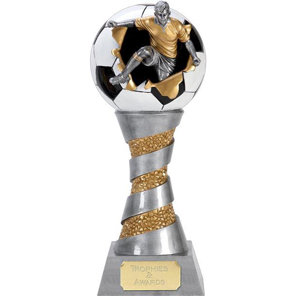 """X-Plode 3D Football Trophy 25.5cm (10"""")"""