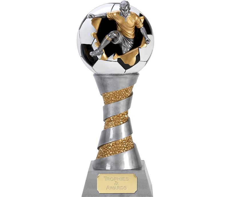 "X-Plode 3D Football Trophy 28cm (11"")"