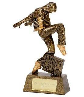 "Antique Gold Street Dance Award 18.5cm (7.25"")"