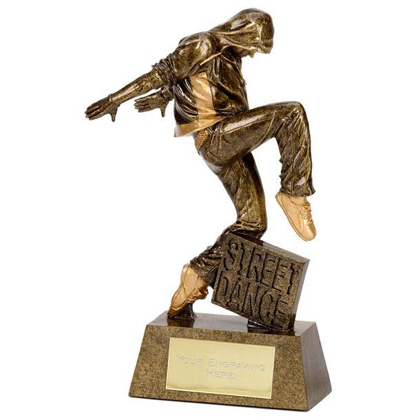 """Antique Gold Street Dance Award 22cm (8.75"""")"""