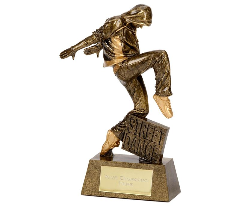 "Antique Gold Street Dance Award 22cm (8.75"")"