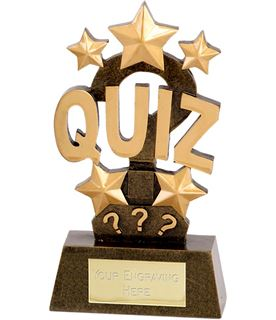 "Quiz Word & Stars Trophy 15cm (6"")"