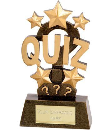 "Quiz Word & Stars Trophy 15cm (6"")"