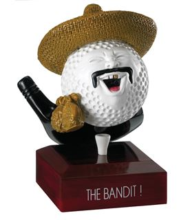 "The Bandit Golf Ball Trophy 12.5cm (5"")"