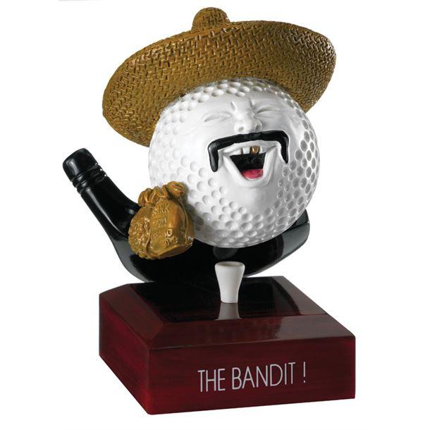 "The Bandit Golf Ball Trophy 12.5cm (5"")"