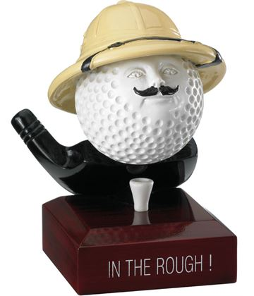"""In The Rough Golf Ball Trophy 12cm (4.75"""")"""