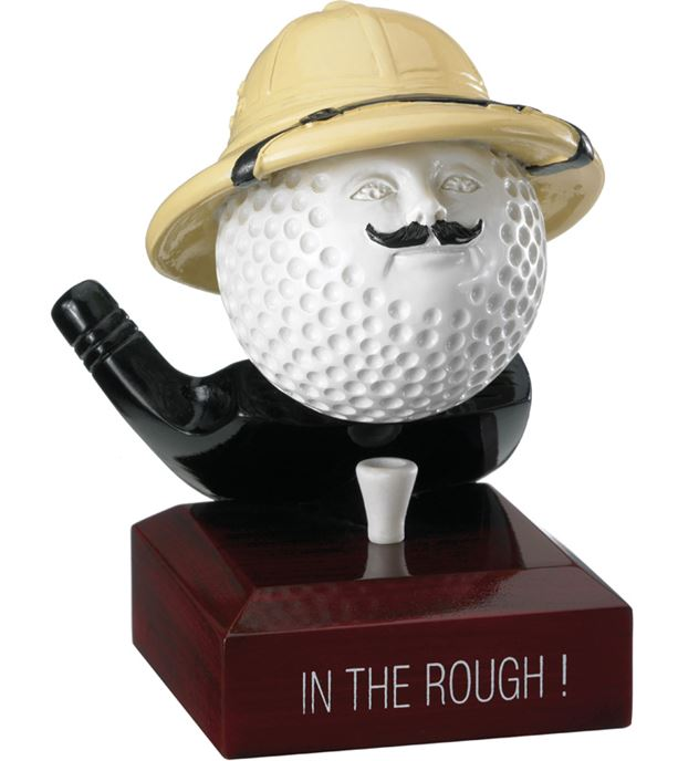 "In The Rough Golf Ball Trophy 12cm (4.75"")"