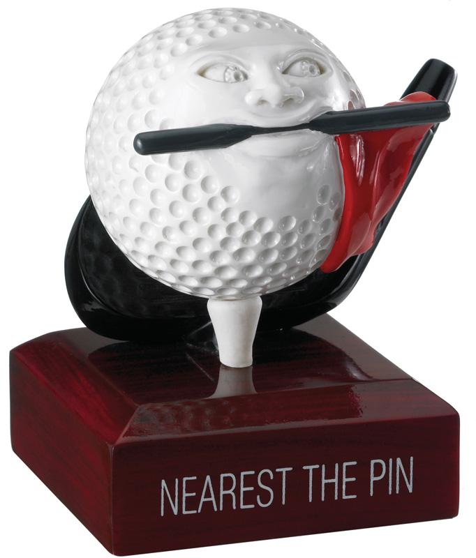 """Nearest The Pin Golf Ball Trophy 9.5cm (3.75"""")"""