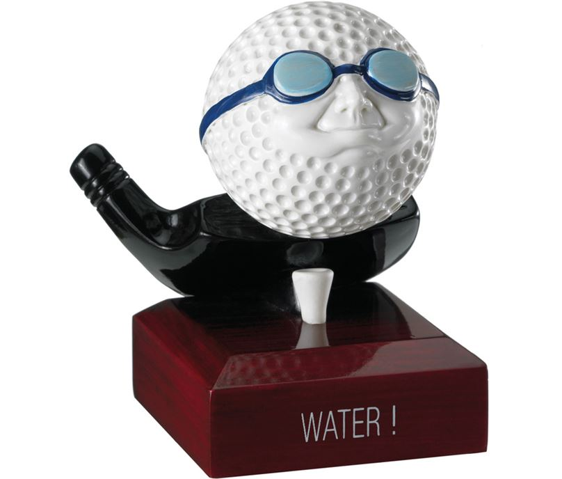 "In The Water Golf Ball Trophy 11cm (4.25"")"