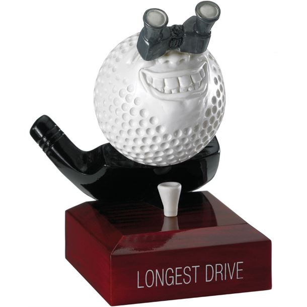 "Longest Drive Golf Ball Trophy 12cm (4.75"")"