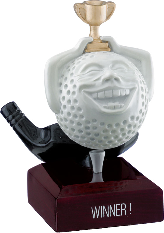 "Winner Golf Ball Trophy 12cm (4.75"")"