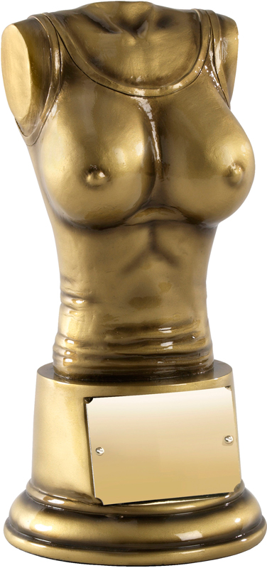 "Booby Prize Antique Gold Finish 20.5cm (8"")"