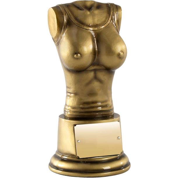 """Booby Prize Antique Gold Finish 13.5cm (5.25"""")"""