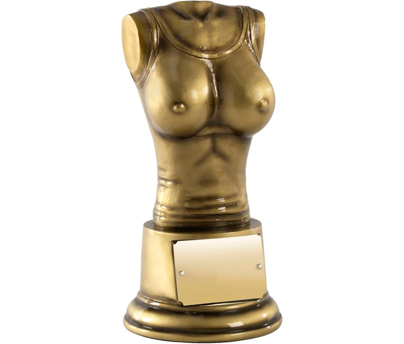 "Booby Prize Antique Gold Finish 13.5cm (5.25"")"