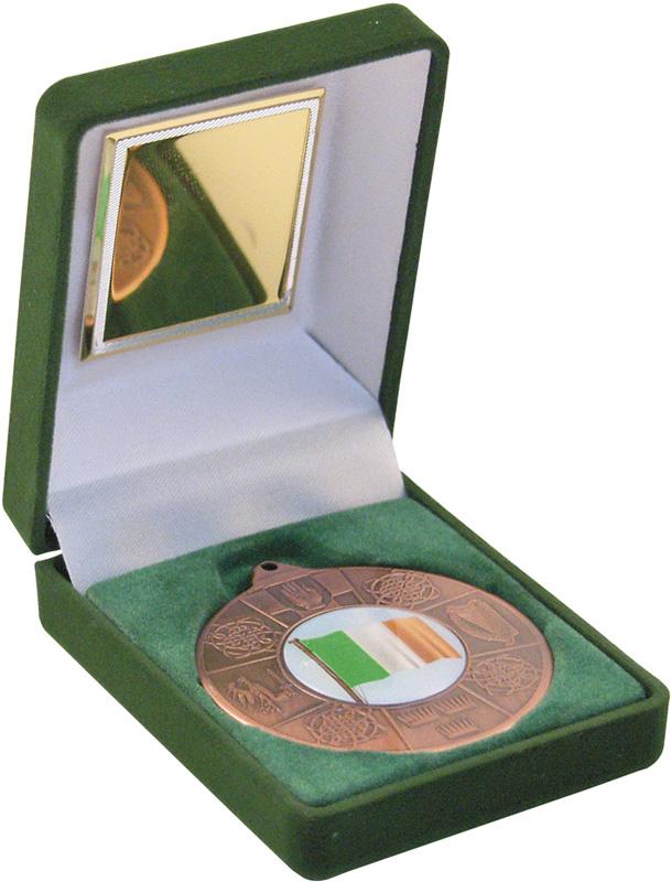 Bronze Four Provinces Medal 50mm in Green Velvet Box