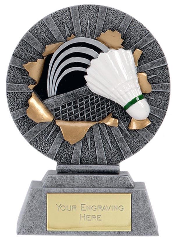 "X-Plode Badminton & Shuttlecock Trophy 12.5cm (5"")"