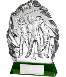 "Optical Crystal Golf Swing Stage Iceberg Award 22cm (8.75"")"