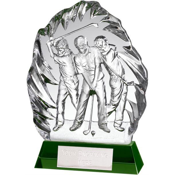 "Optical Crystal Golf Swing Stage Iceberg Award 19cm (7.5"")"