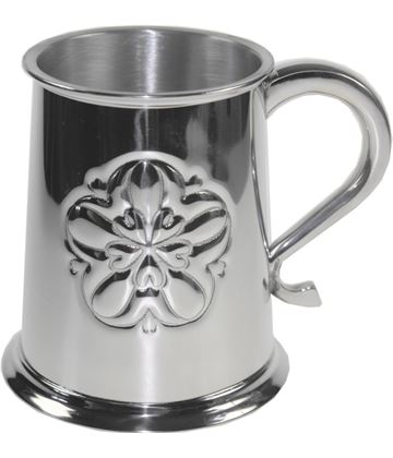 "Yorkshire Rose Embossed 1pt Sheffield Pewter Tankard 11.5cm (4.5"")"