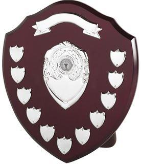 "Top Scroll Perpetual Presentation Shield 35.5cm (14"")"