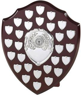 "Presentation Shield With 28 Side Shields 30.5cm (12"")"