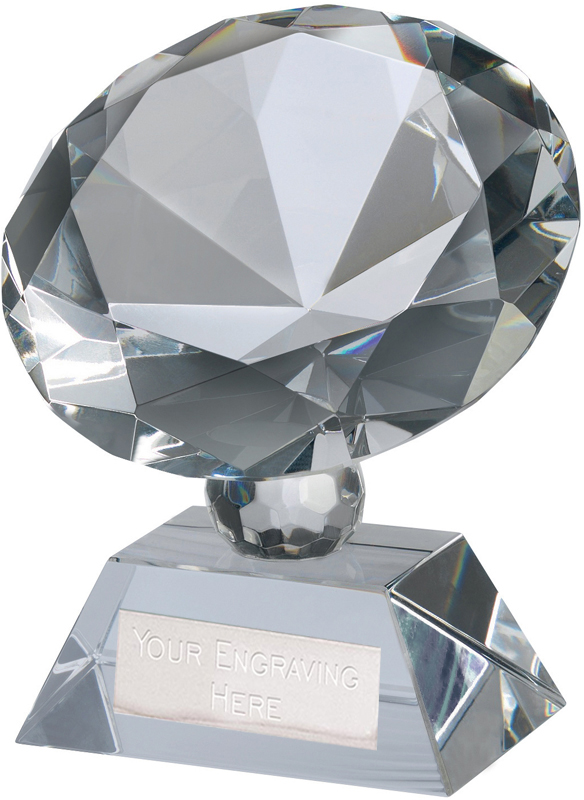 "Optical Crystal Diamond Glass Award 12cm (4.75"")"