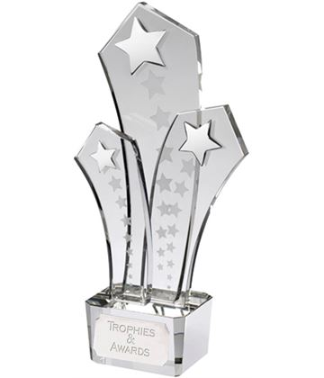 "Optical Crystal Shooting Star Award 28cm (11"")"