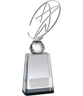 "Silver Metal Star on Crystal Base Award 30.5cm (12"")"