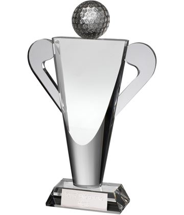 "Optical Crystal Abstract Golf Cup Award 22cm (8.75"")"