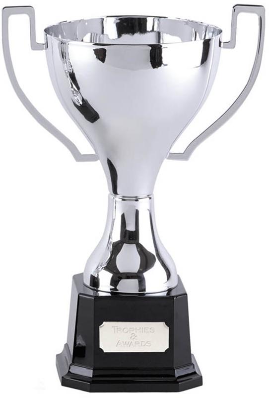 "Silver Zenith Cup on Black Bakelite Base 30.5cm (12"")"
