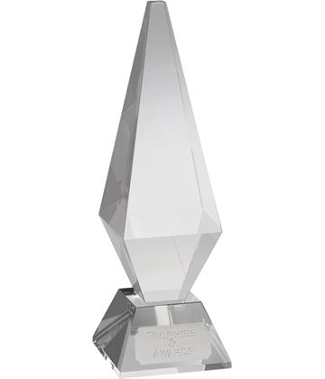 "Optical Crystal Diamond Column Award 19.5cm (7.75"")"