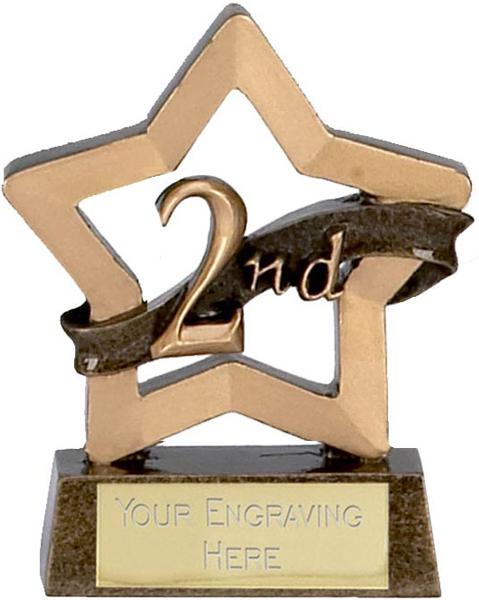 "Mini Stars 2nd Place Award Trophy 8.5cm (3.25"")"
