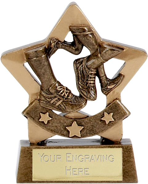 """Mini Stars Running Award 8.5cm (3.25"""")"""