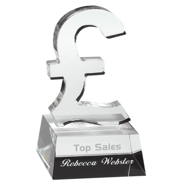 """Heavyweight Clear Glass Pound Sign 12cm (4.75"""")"""