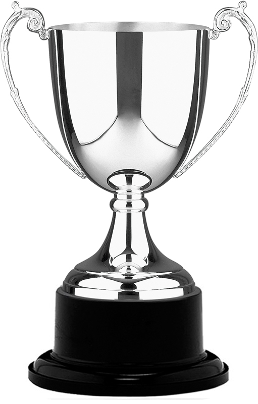 "Silver Plated Colonial Presentation Cup on Black Base 31cm (12.25"")"