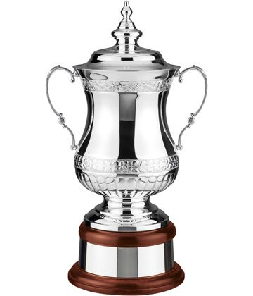 "Silver Plated Hand Chased Heroes Presentation Cup 46.5cm (18.25"")"