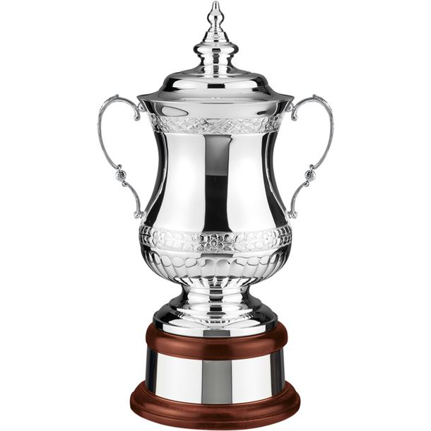 """Silver Plated Hand Chased Heroes Presentation Cup 46.5cm (18.25"""")"""