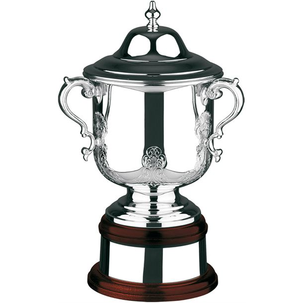 """Silver Plated Hand Chased League Champions Presentation Cup 42.5cm (16.75"""")"""