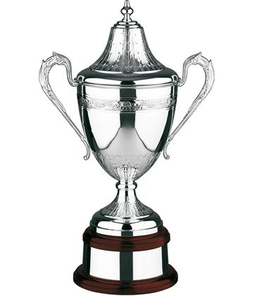 "Silver Plated Hand Chased Riviera Presentation Cup 36cm (14.25"")"