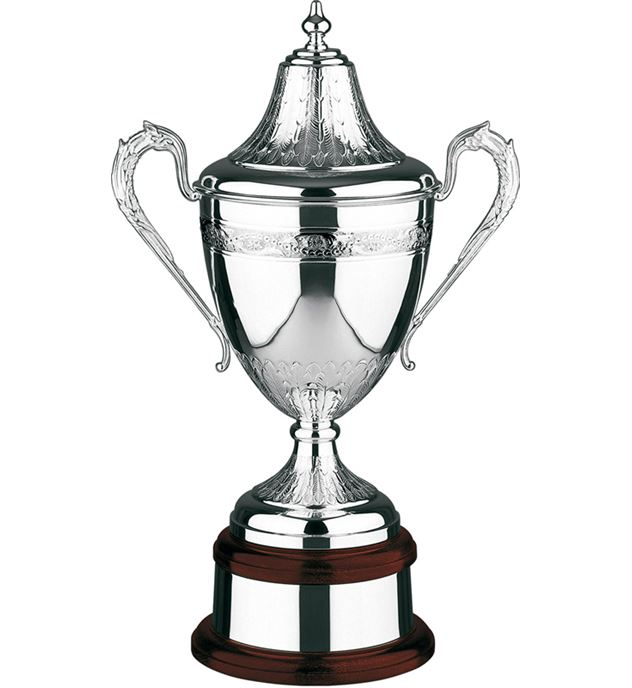 """Silver Plated Hand Chased Riviera Presentation Cup 42.5cm (16.75"""")"""