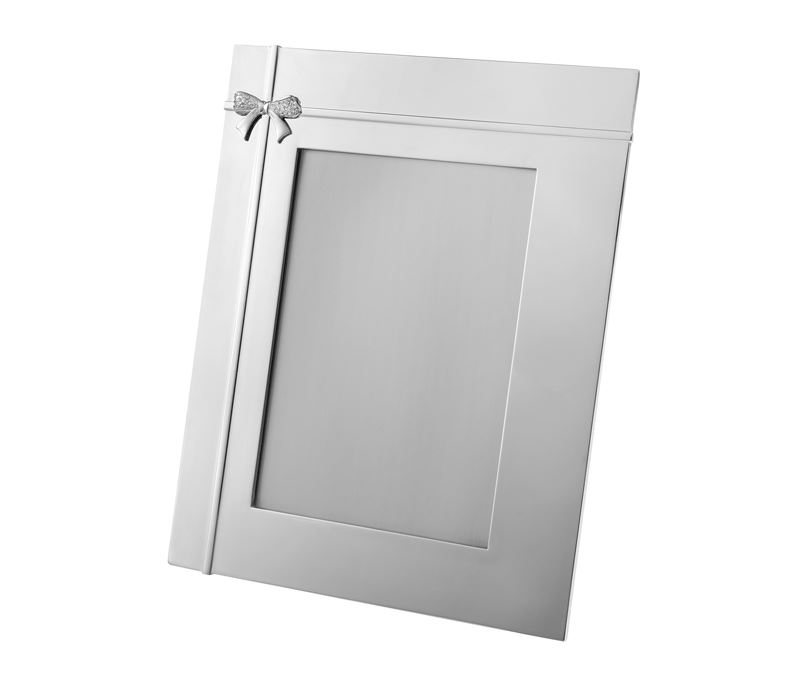 "Silver Plated Crystal Bow Photo Frame 25cm (9.75"")"