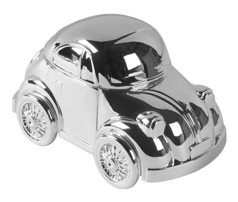"Silver Finish Beetle Car Money Box 11.5cm (4.5"")"