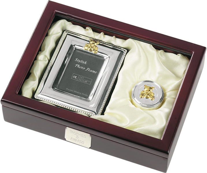 Silver Finish First Tooth & Photo Frame with Presentation Case